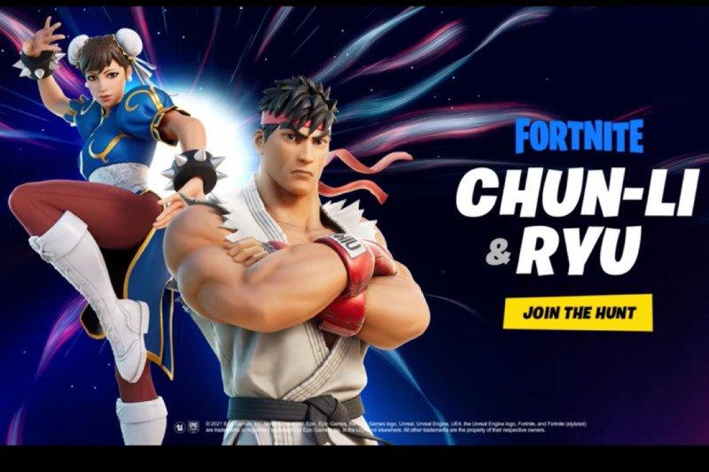 """Ikon """"Street Fighter"""" Chun-Li dan Ryu gabung di Fortnite"""