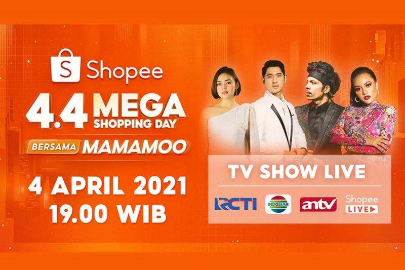 AL & Andin tampil di Shopee 4.4 Mega Shopping Day bersama MAMAMOO