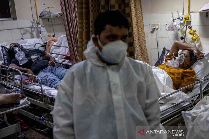 Kasus harian COVID-19 di India tembus 400 ribu, begini kondisi rumah sakit yang penuh sesak