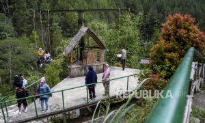 Kunjungan Wisata Maribaya Lembang Masih di Bawah 10 Persen