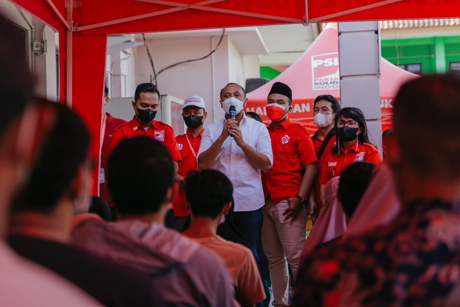 Gelar Sentra Vaksinasi (Lagi) , PSI jadi parpol yang terbesar buka sentra Vaksinasi di Kabupaten Bekasi
